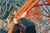 660 metrů nad zemí bez jištění