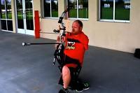 Střelba lukem bez rukou na 91m