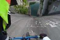 Sjezd na kole z přehrady